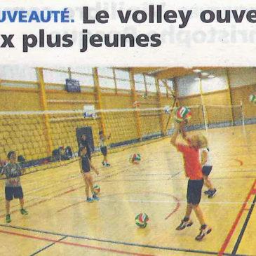 Le volley ouvert aux plus jeunes